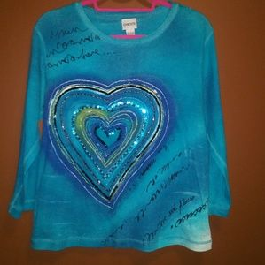 "Chico's bright ""Love"" tee-shirt/top"